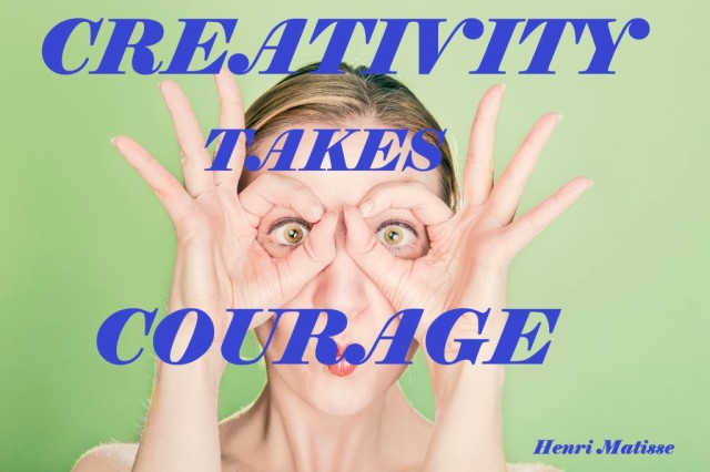 Creativiteit vergt Moed