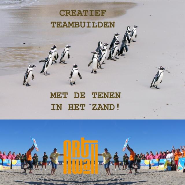 Teambuilden met tenen in het zand_JPG